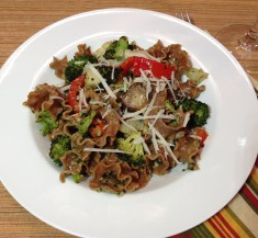 Roasted Vegetable Pesto Pasta