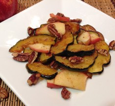 Maple Roasted Acorn Squash and Apples
