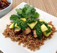 Blackened Chicken with Mango and Chimichurri