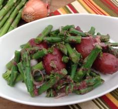 Potato and Asparagus Salad with Olive Vinaigrette