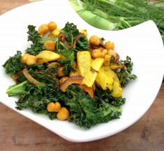Roasted Fennel, Chickpeas and Kale