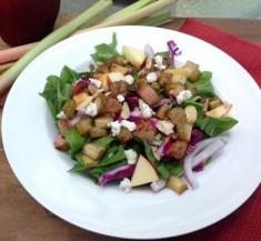 Honey Roasted Rhubarb Salad