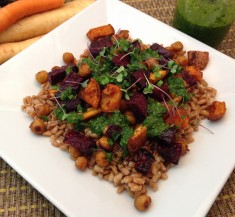 Chermoula-Inspired Spice Roasted Vegetables and Chickpeas