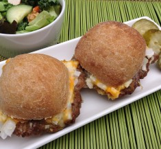 White Castle Inspired Burgers