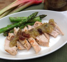 Grilled Chicken with Rhubarb Chutney