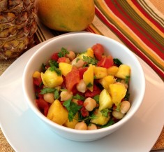 Tropical Chickpea Salsa