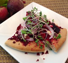Beet and Bacon Pizza