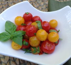 Grilled Sweet and Spicy Summer Tomatoes