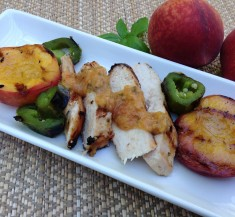 Summer Basil and Peach Grilled Chicken
