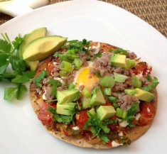 Huevos Rancheros Tortilla Pizza