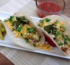 Chicken and Grilled Veggie Tacos