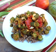Curried Okra and Tomatoes