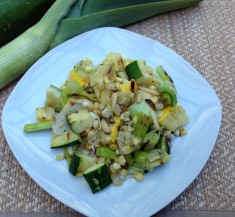 Grilled Zucchini, Leeks and Corn