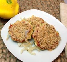Baked Pattypan Squash Parmesan