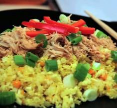 Slow Cooker Asian Chicken over Cauliflower Rice