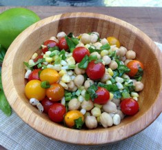 Honey Lime Chickpea Salad