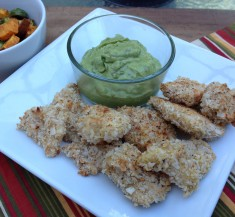 Coconut Fish Nuggets with Avocado Wasabi Sauce