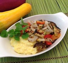 Grilled Veggies on Creamy Polenta