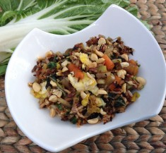 Wild Rice with Bok Choy