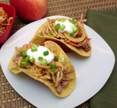 Slow Cooker Autumn Pork Tacos