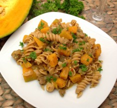 Butternut Squash and Sausage Pasta