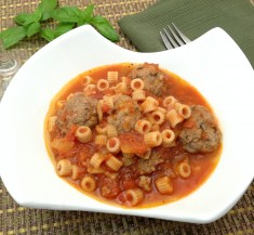 Grown Up Spaghettios and Meatballs