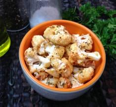 Parmesan Garlic Roasted Cauliflower