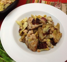 One-Pot Chicken with Artichokes and Fennel