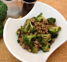 Roasted Broccoli and Lentil Salad