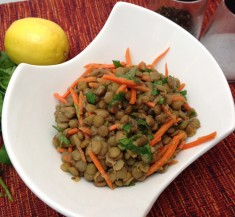 Cilantro and Carrot Lentil Salad