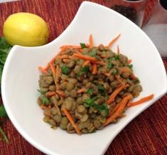 Cilantro and Carrot Lentil Salad