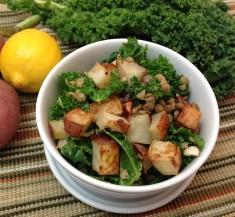 Potato and Lentil Salad with Lemon Caper Vinaigrette