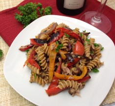 Mediterranean Tuna and Roasted Pepper Pasta