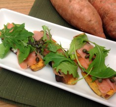 Savory Smoked Salmon Sweet Potato Toast