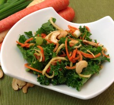 Crunchy Carrot and Parsnip Kale Salad