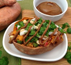 Thai Stuffed Sweet Potato