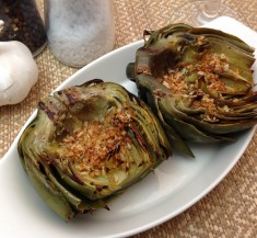 Garlic Lemon Grilled Artichokes