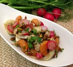 Sweet Orange Roasted Fennel and Radish Salad