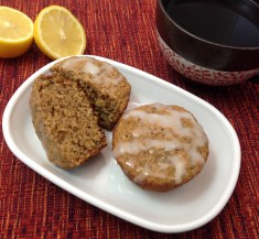 Glazed Lemon Chia Seed Muffins