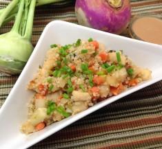 Glazed Turnip and Kohlrabi Salad