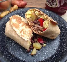 Chorizo Breakfast Burritos