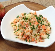 Kohlrabi, Apple and Carrot Salad
