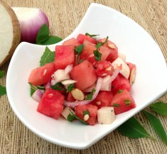 Watermelon Jicama Mint Salad