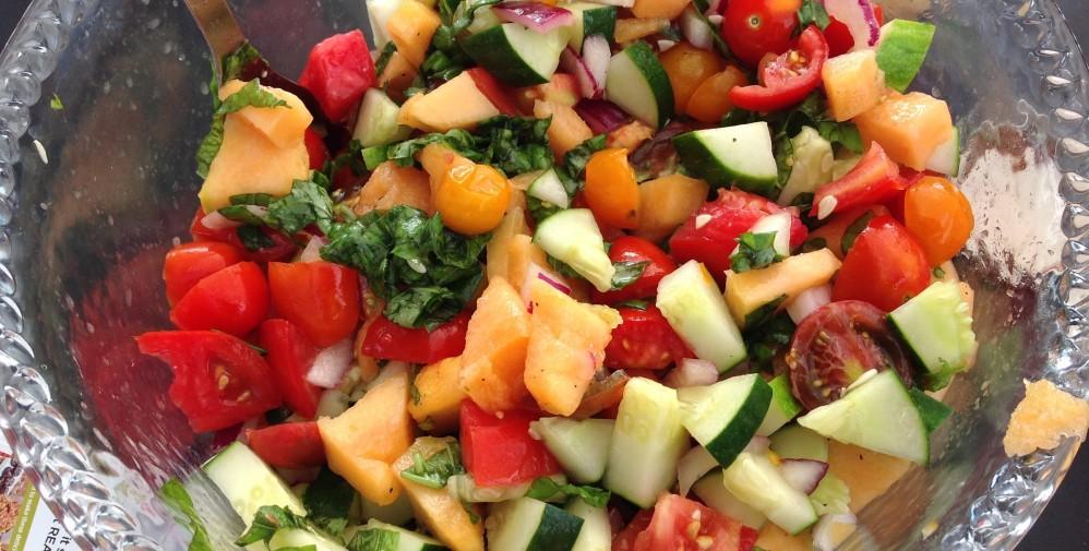 Tomato Cantaloupe Salad
