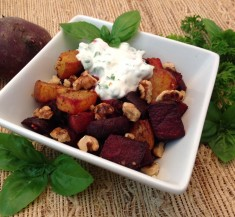 Roasted Beets with Spicy Yogurt Sauce